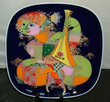 """Bjorn Wiinblad 1001 Nights Rare 12"""" charger Wall Plate Man with Lute Rosenthal"""