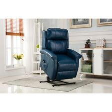 Traditional Lift Chair in Navy Blue