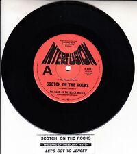 "THE BAND OF THE BLACK WATCH  Scotch On The Rocks 7"" 45 record + juke box strip"