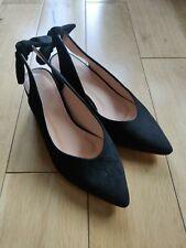 Damas Alta Moda Negro Zapatos Talla 37