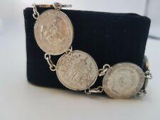 Vintage Antik Silber Münzarmband seltene 6 x Silber  Münzen 1913-1915 -Top
