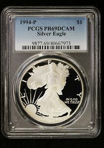 1994 P Proof Silver Eagle PCGS PR 69 DCAM