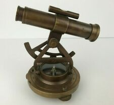 "Brass Nautical Theodolite Alidade Telescope Compass Marine 5"" Replica"