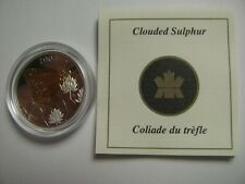 2004 Proof 50 cents Butterfly #2-Clouded Sulphur COIN&COA ONLY Canada silver w/
