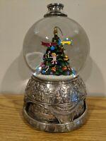 Musical O Christmas Tree Snow Globe Wallace Silversmiths Silver Waterglobe Gift