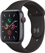 Apple Watch Series 5 GPS+LTE w/ 44MM Space Gray Aluminum Case & Black Sport Band