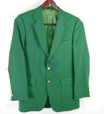 Stafford Men's Green 2 Gold Button Blazer Sport Coat Measures 40-41L