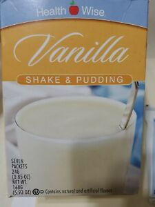 Health Wise Vanilla Shake & Pudding. Protein Powder.Seven Packets 24g.Exp.11/22