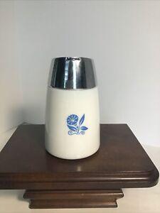 Vintage Blue Morning Glory Milk Glass Santa Barbara, Dripcut SUGAR
