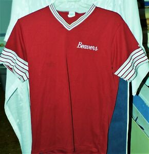 1983 Portland Beavers John Russell Practice Jersey No # or NOB.22 On Size Tag.