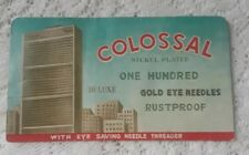 Vintage Colossal Nickel Plated Needle Case