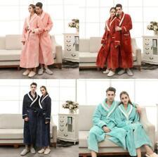 Winter Womens Mens Flannel Sleepwear 4 Colors Robe Pajamas Bathrobe Homewear