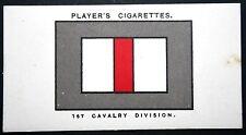 1st Cavalry Division  British Army   World War 1  B.E.F.    INSIGNIA CARD ## VGC
