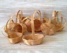 10 Miniatures Dolls Bamboo Wicker Basket Vegetable Fruit 1.12 Cm Handmade Decor