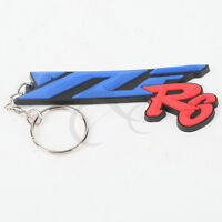 Cool Rubber Keyring Keychain Key Chain Pendant Fit For YAMAHA YZF R6 Motorcycle