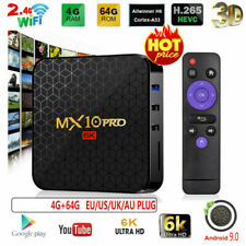 MX10 Pro 6K TV Box Android 9.0 AllWinner H6 100Mbps 4GB+64Gb Home Media Player