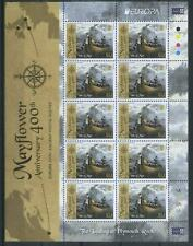 Isle of Man 2020 Europa CEPT, Ancient Postal Routes, Ships, Mayflower MNH**