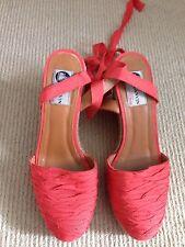 EUC LANVIN Ladies Wedges Sandals Shoes 38.5 - 7.5au 100% auth