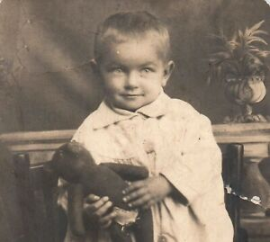 1900 antique PHOTO doll Adorable Pretty GIRL vintage toy teddy bear Russian