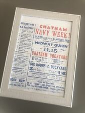 More details for chatham navy week repro poster flyer medway queen line steamers 1938 dockyard
