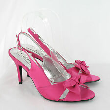 Stiletto Satin Slingbacks Shoes Party for Women