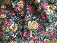 King Dust Ruffle  Glynda Turley Victorian Keepsake cabbage rose floral USA green