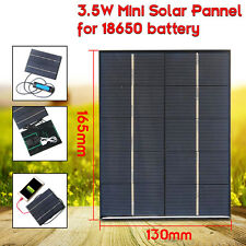 3.5W 5V 0-700mA Solar Panels Charger Solar USB For Mobile Phone 18650 Battery