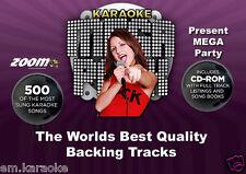 Karaoke CDG Discs -- Zoom Karaoke Mega Party Pack. 500 Starter Tracks 26 Discs