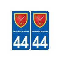 44  Saint-Léger-les-Vignes blason ville autocollant plaque stickers droits