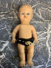 RARE VINTAGE PEDIGREE GIRL RUBBER DOLL GENUINE ORIGINAL TOY ENGLAND BABY