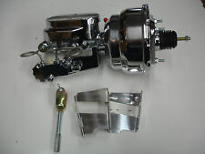 "1959-1964 chevrolet disc brake conversion chrome brake booster 8"" dual"