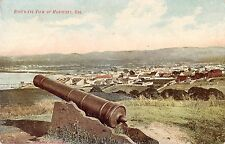Monterey California Birds Eye View Cannon Antique Postcard (J32384)
