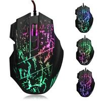 Promotion 5500DPI Colorful LED Optical USB Wired Gaming Game Mouse For PC/Laptop