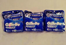 GILLETTE MACH 3 TURBO 3 PACK WITH 12 CARTRIDGES TOTAL FREE FAST SHIPPING MACH3