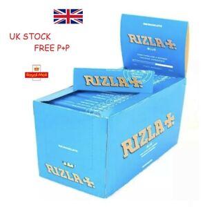 Genuine Regular Blue Rizla - Standard Small Cigarette Rolling Papers Skins Book