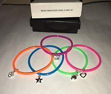 Avon Kids Neon Bracelets NIB Multicolor Charms Ages 4+ NOS