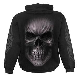 Spiral Direct DEATH RAGE Hooded,Skull/Gothic/Biker/Pullover/Metal/Heavy