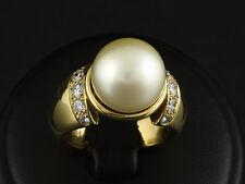 Brillant Ring mit Südsee Perle 0,56ct (Gravur) Juwelier Leicht   19,5g 750/-GG