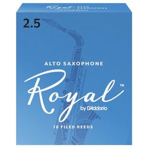 Rico Royal Alto Saxophone Reeds Strength 2.5 (Box of 10)