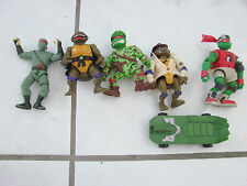 Lot of 4 Teenage Mutant Ninja Turtles, skateboard Mirage Studio Playmates 1990's