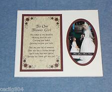 """WEDDING KEEPSAKE """"TO OUR FLOWER GIRL""""  PHOTO INSERT FOR LOVED ONES"""