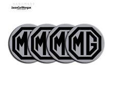 MG TF MGF Alloy Wheel Centre Caps Badges Black Silver 55mm Hub Cap Badge Set