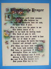 PHYSICIAN Doctor PRAYER Verse Catholic Picture - lovely vintage reproduction