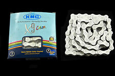 """KMC X9 COLOR HIGH PERFORMANCE 9 SPEED CAMPAGNOLO,SHIMANO CHAIN 11/128""""1/2""""WHITE"""