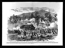 Leslie Civil War Print - Battle of Rich Mountain Beverly Pike Virginia Rosecrans