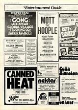 Canned Heat Pure Food Harvey Mandel Rainbow Theatre, London MM4 show Advert 1974