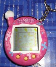 Tamagotchi Electronic Keychain ocean Pink and White+ Flowers Handheld Travel