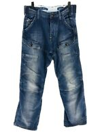 G-STAR RAW 3301 STORM ELWOOD Blue Loose Straight Fit Jeans Size W29 L34