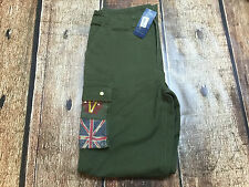 RALPH LAUREN VINTAGE CHINO CARGO PANTS GREEN  BOYS SIZE 18 NEW WITH TAGS
