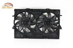 AUDI A6 3.0L ENGINE RADIATOR COOLING DUAL FAN MOTORS W/ SHROUD OEM 2012 - 2017💎